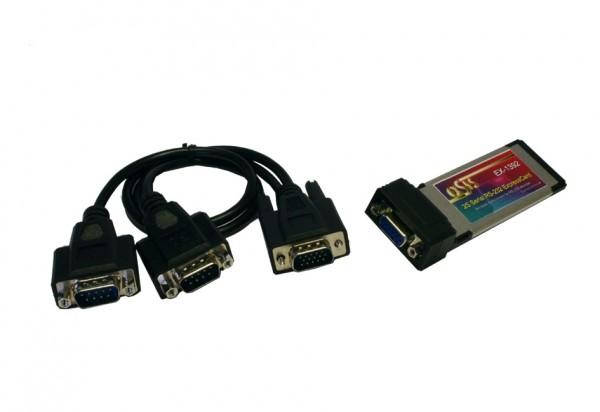 ExpressCard 2S Seriell RS-232 Ports, MosChip