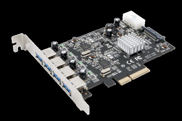 USB 3.1 Gen2 PCIe (x4) Karte mit 4 A-Ports