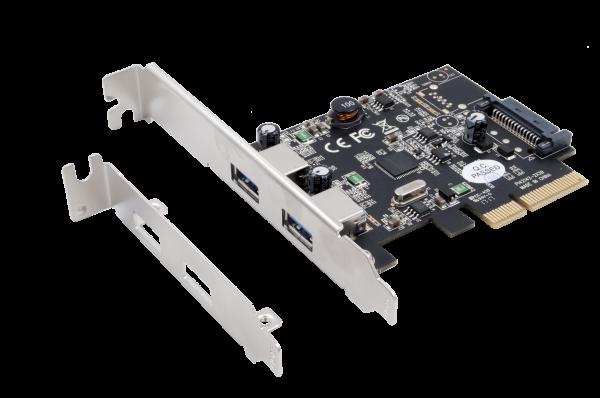 USB 3.1 Gen2 PCIe Gen3 - 2 x A Ports
