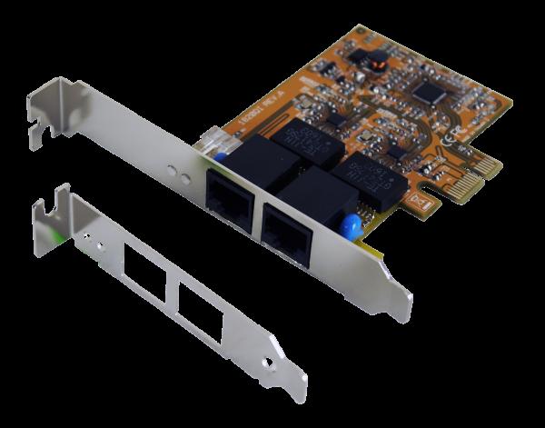 PCIe Dual Netzwerk-Karte mit 2 x 1G/4KV Surge