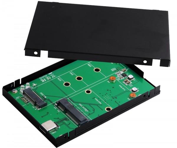 USB 3.1(Gen2) zu M.2 & mSATA SSD Gehäuse/C-Stecker