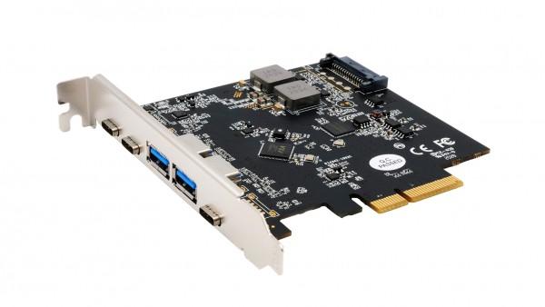 USB 3.2 Gen2 PCIe (x2) Karte mit 5 Ports ( 2A+3C Anschlüsse)
