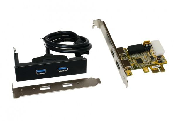 USB 3.2 Gen1 PCIe Karte mit 2 Externen + 2 Internen Ports
