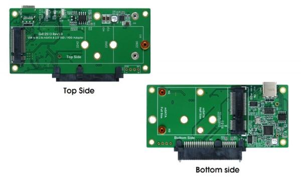 USB 3.1 C-Anschluss für M.2 oder mSATA SSD & SATA