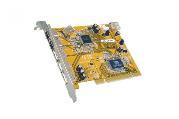 FireWire 1394A / USB 2.0 PCI Karte