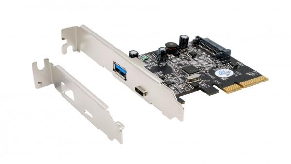 2 Port USB 3.2 Gen2 PCIe (x4) Karte mit 1x A– und C™ Anschluss (Asmedia)