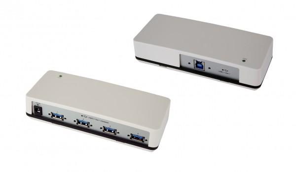 4 Port USB 3.0 Plastik HUB mit 3KV Opto Isolation