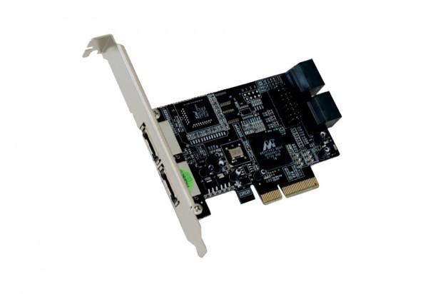 eS-ATA 2 PCIe RAID 0/1 Controller mit 4+2 Ports