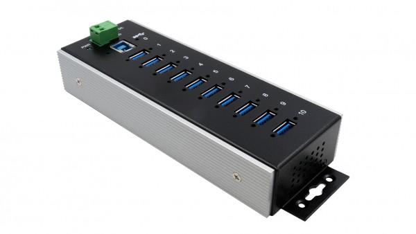 USB 3.0 Metall-HUB mit 10 Ports, -40°C~+85°C