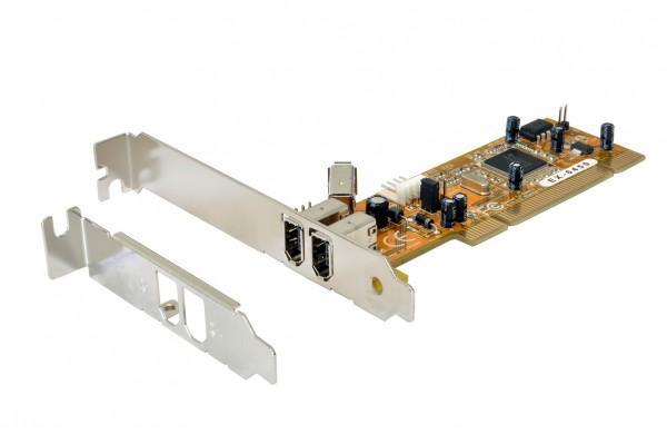 FireWire 1394 PCI-Karte mit 3 Ports (TI Chip-Set)