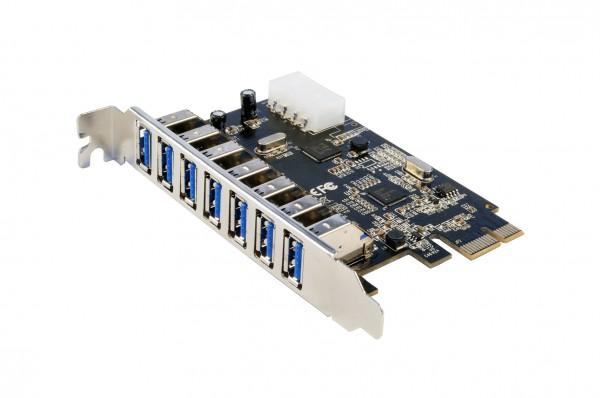 USB 3.0 PCIe Karte mit 7 Ports (Renesas)