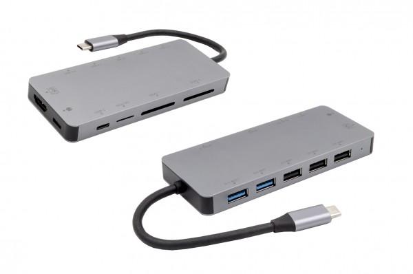 11 in 1 USB C HUB (Metall)