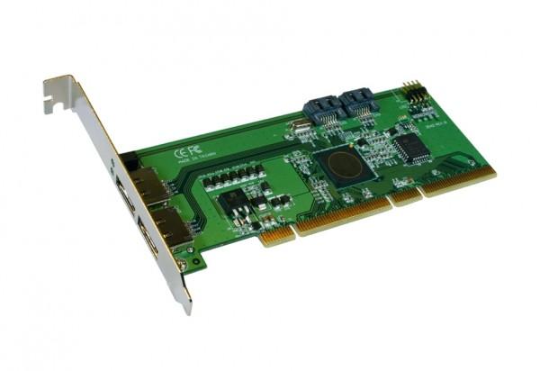 S-ATA 2 RAID 0/1 PCI-X Controller für 2+2 HDD