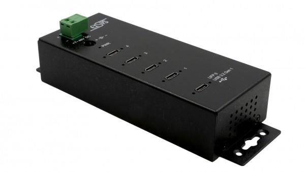 4 Port USB 3.2 Gen1 Metall HUB, 4 x C-Down