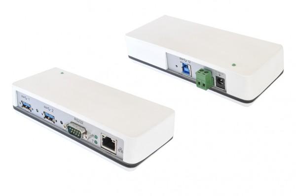 Dockingstation USB 3.2 Gen1 zu 1 x RS-232 Surge & Isolation, LAN 1Gbps und 2 x USB 3.2 Gen1