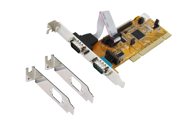 2S PCI Seriell-Karte, 2 x 9 Pin Port (SystemBase)