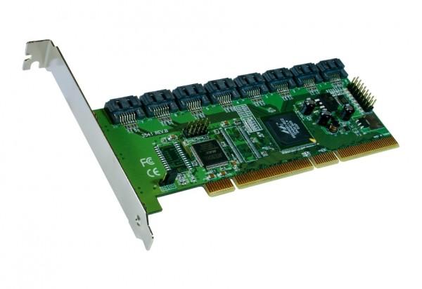 S-ATA 2 PCI-X Controller für 8HDD ohne RAID