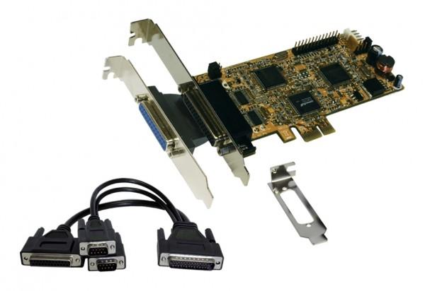 2S / 2P PCI-Express Multi I/O-Karte, Octopuskabel