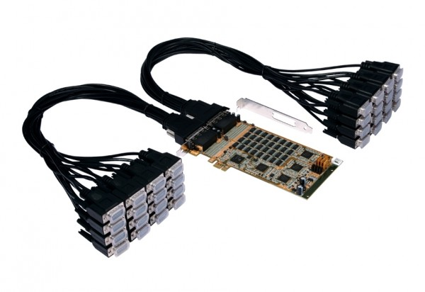 PCIe 32S Seriell RS-232 Karte, Oxford