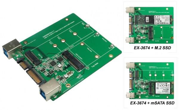 USB 3.1 und SATA 3 to M.2 or mSATA SSD