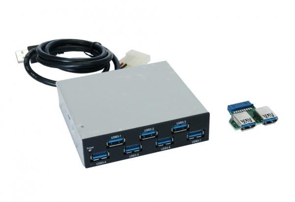 Interner 7 Port USB 3.0 HUB als Einschub im PC