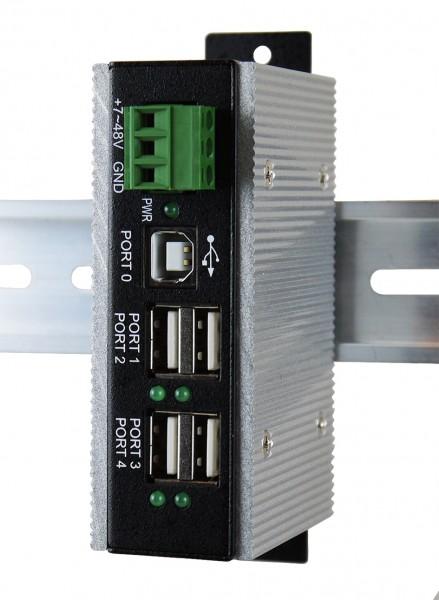 USB 2.0 Metall-HUB mit 4 Ports, -40C~+85C