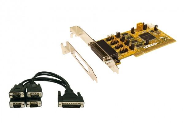 PCI 4S Seriell RS-232-Karte inkl. LowProfile Bügel