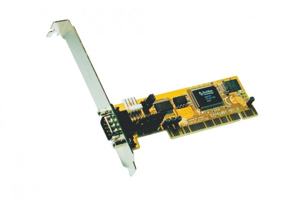 PCI 1S Seriell RS-232 Karte, MosChip Chip-Set