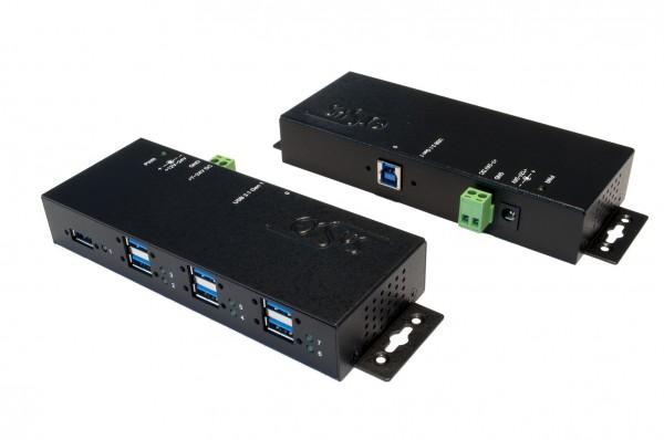7 Port USB 3.2 Gen1 Metall HUB mit 1.5A Aufladestrom für Smartphone und Tablet's