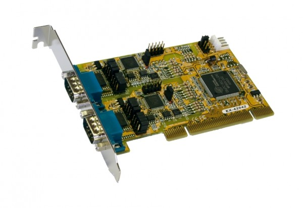 PCI 2S Seriell RS-232/422/485 Combo Karte
