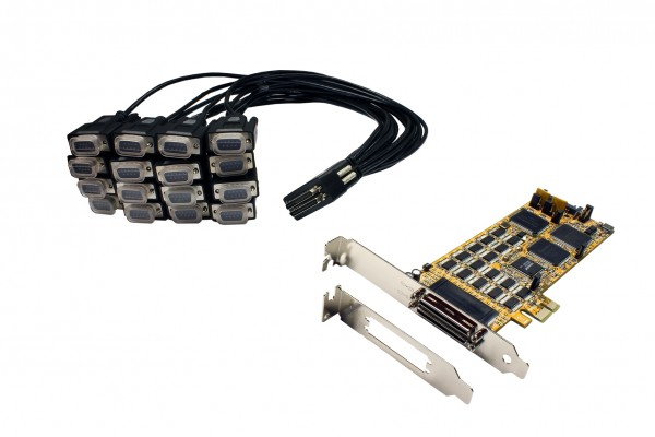PCIe 16S Seriell RS-232 Karte, SystemBase