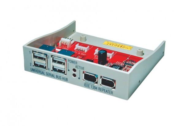 HUB 2 Port IEEE 1394 und 4 Port USB