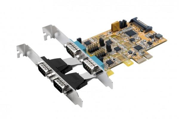 PCIe 4S Seriell RS-232/422/485, (FTDI)