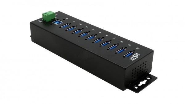 10 Port USB 3.2 Gen1 Metall HUB mit 15KV ESD Überspannungsschutz
