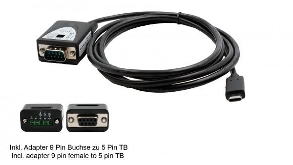 USB 2.0 C-Stecker zu Seriell RS-422/485 Kabel (FTDI Chip)
