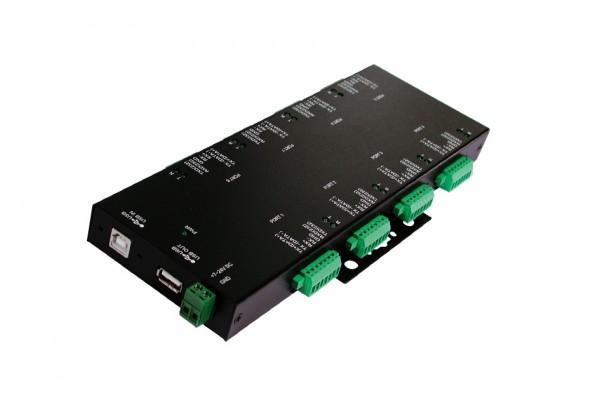 USB 2.0 zu 8S RS-232/422/485, Metall