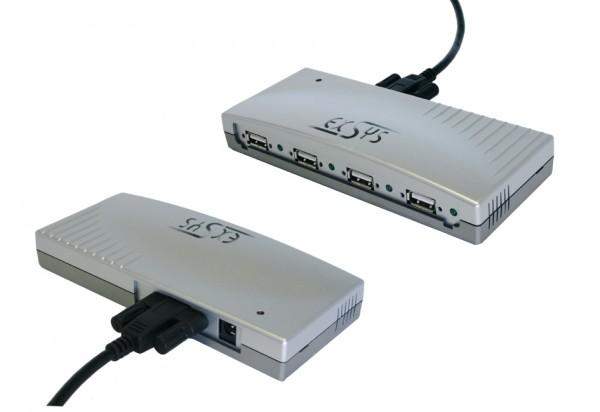 USB 2.0 HUB mit 4 Ports, Verschraubbar